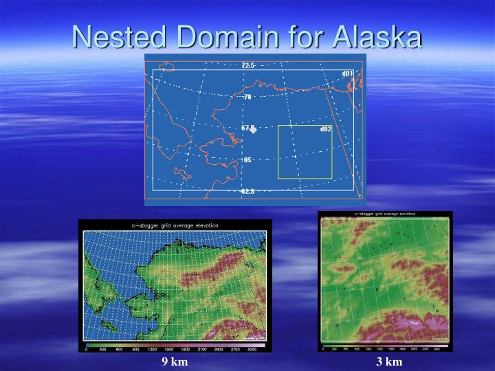 Nested Domain for Alaska