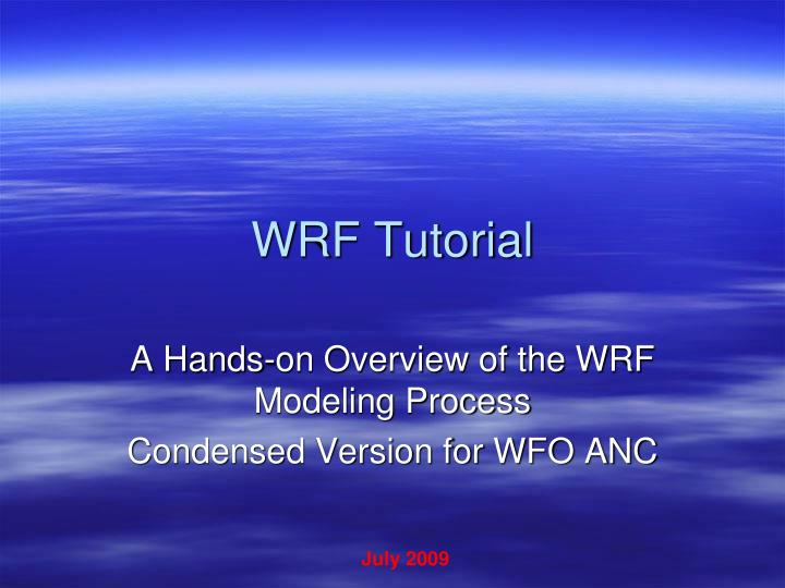 Wrf tutorial