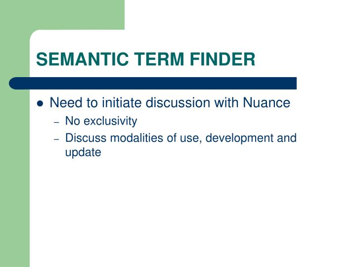 SEMANTIC TERM FINDER