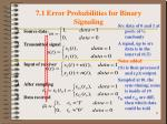 7 1 error probabilities for binary signaling