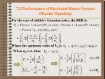 7 2 performance of baseband binary systems bipolar signaling3