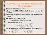7 2 performance of baseband binary systems polar signaling2