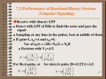 7 2 performance of baseband binary systems unipolar signaling2