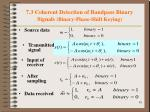 7 3 coherent detection of bandpass binary signals binary phase shift keying1