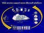 web services support across microsoft platform