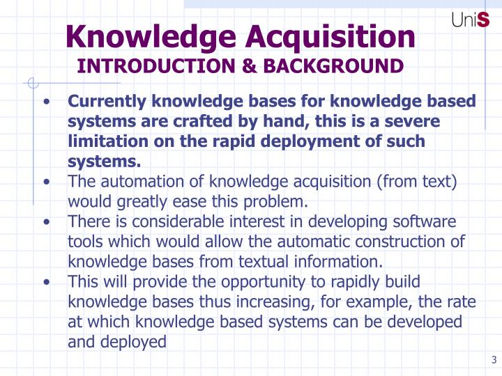 Knowledge acquisition introduction background1