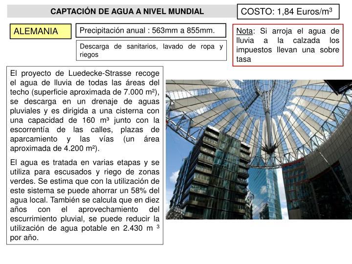 COSTO: 1,84 Euros/m