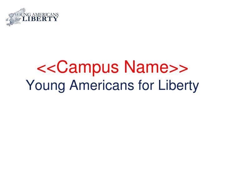 Campus name young americans for liberty
