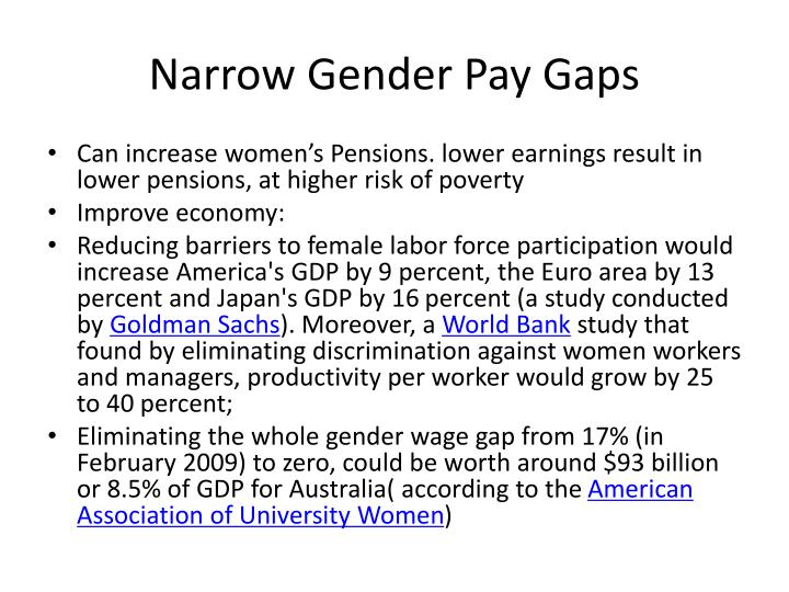 Narrow Gender Pay Gaps