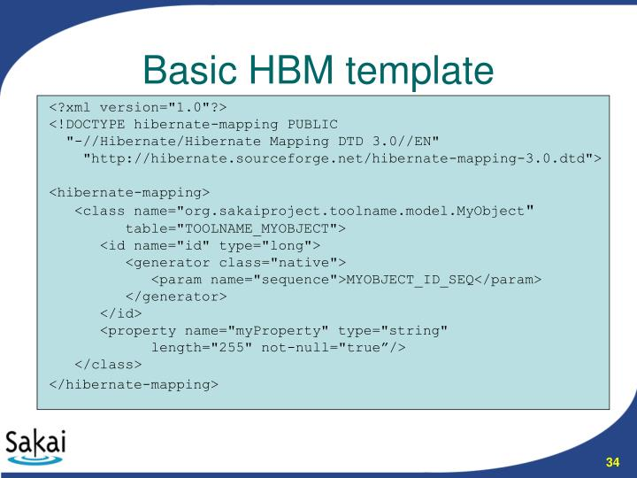 Basic HBM template