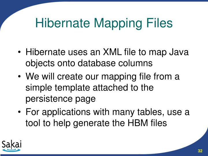 Hibernate uses an XML file to map Java objects onto database columns