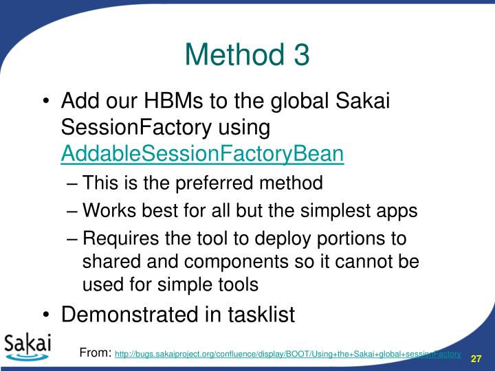 Add our HBMs to the global Sakai SessionFactory using