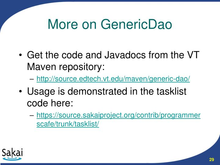 Get the code and Javadocs from the VT Maven repository:
