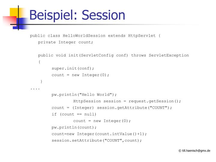 Beispiel: Session