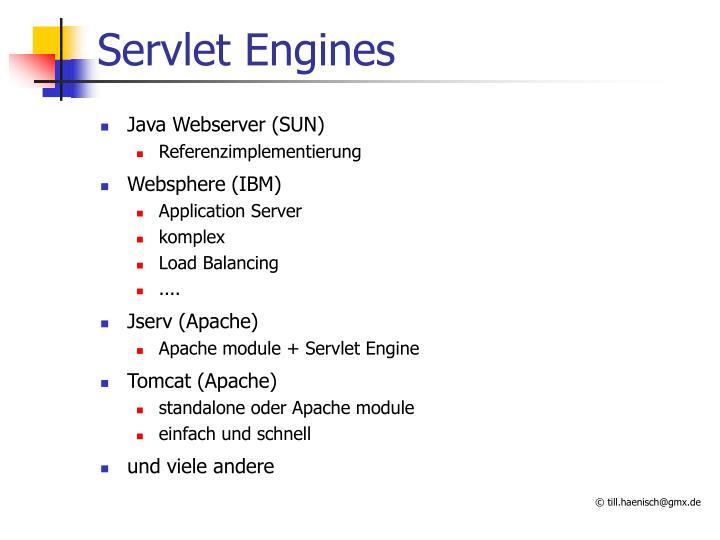 Servlet Engines