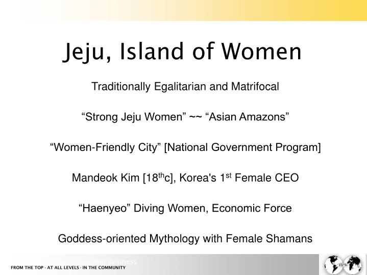 Jeju, Island of Women