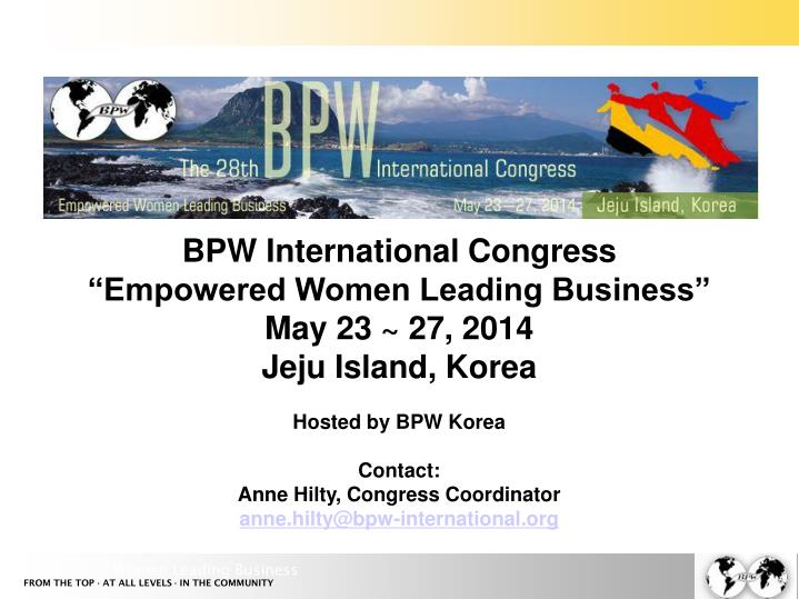 BPW International Congress