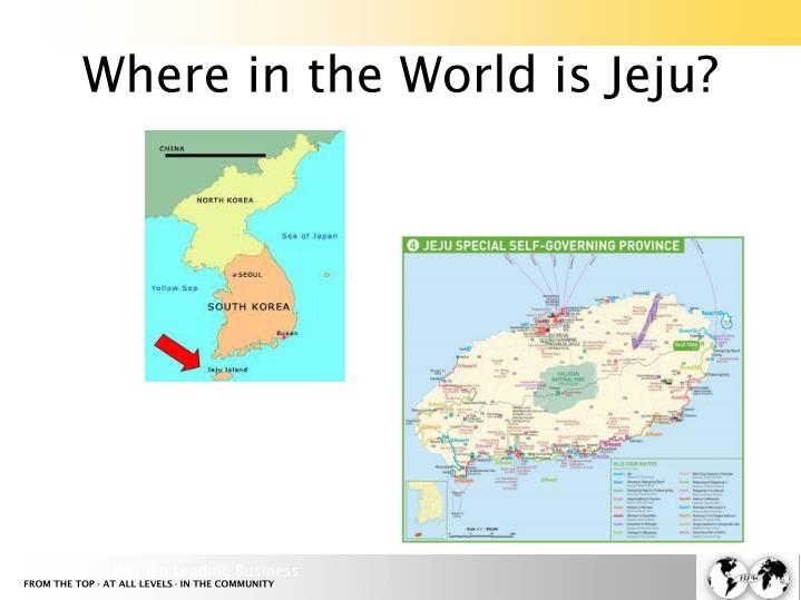 Where in the World is Jeju?