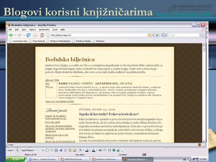 Blogovi korisni knjižničarima