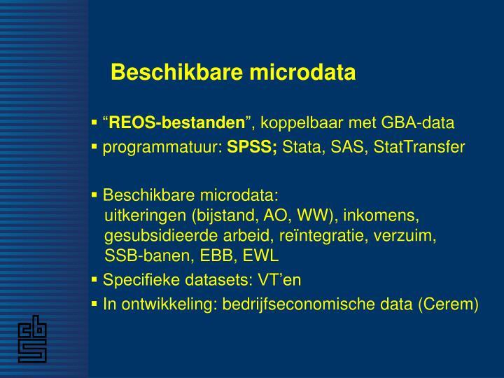 Beschikbare microdata