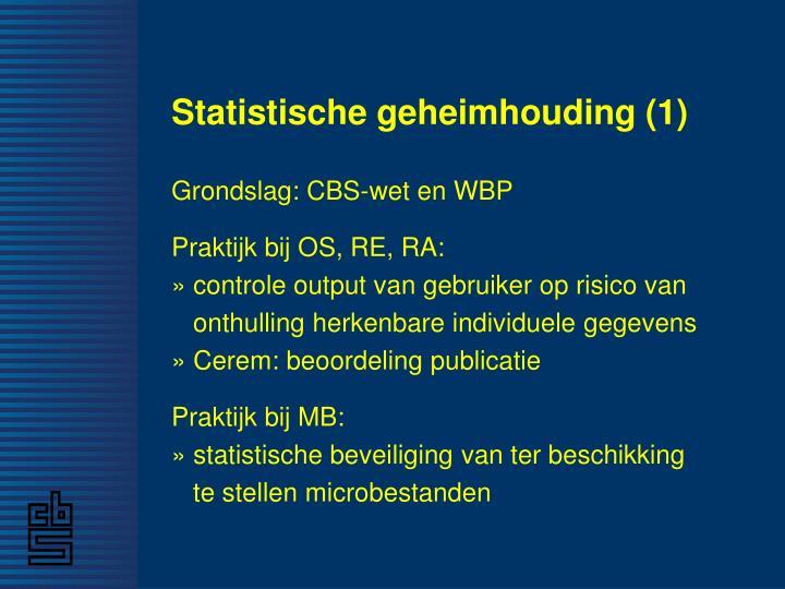 Statistische geheimhouding (1)