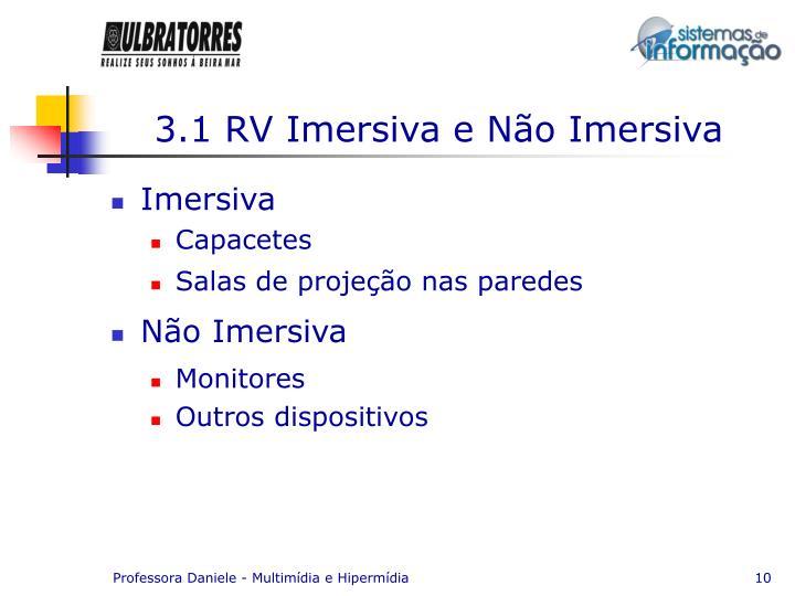 3.1 RV Imersiva e Não Imersiva