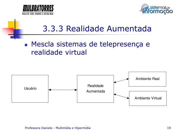 3.3.3 Realidade Aumentada