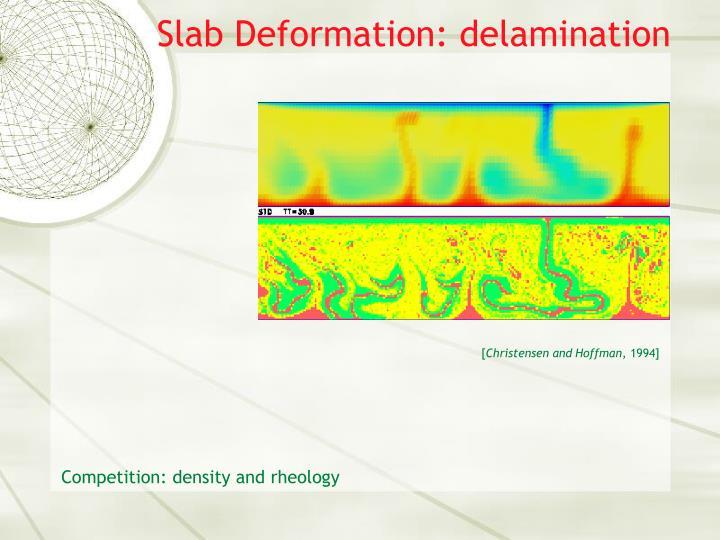 Slab Deformation: delamination