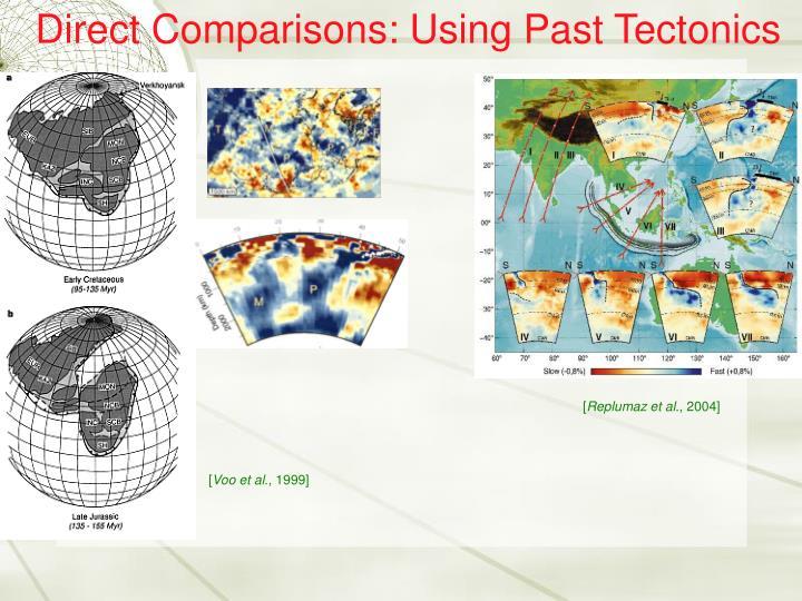 Direct Comparisons: Using Past Tectonics
