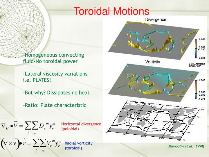 Toroidal Motions