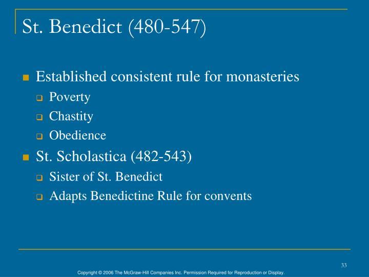 St. Benedict (480-547)