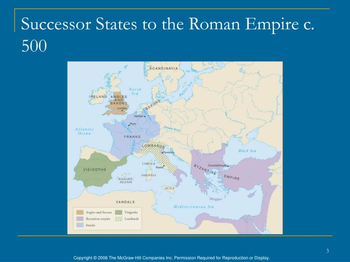 Successor States to the Roman Empire c. 500