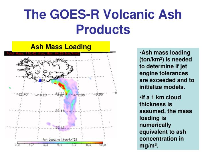 The GOES-R Volcanic Ash Products