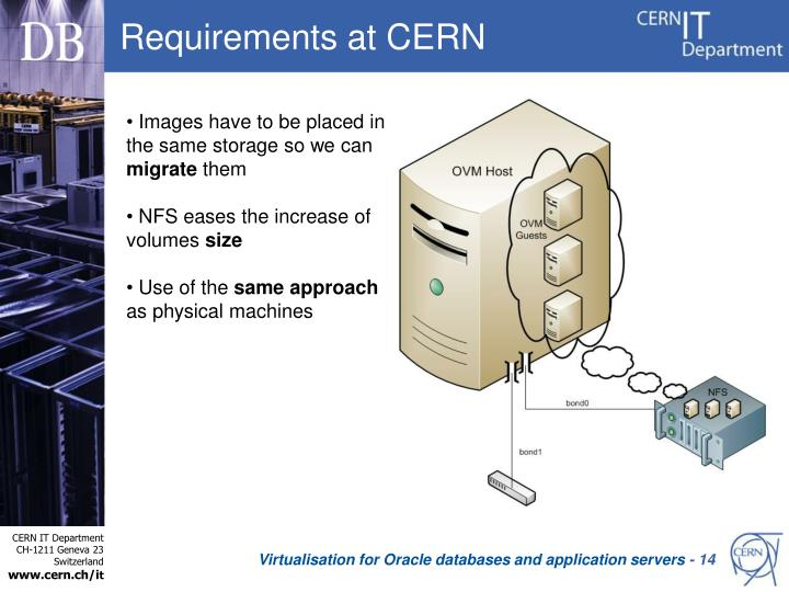 Requirements at CERN