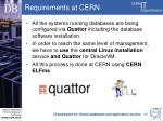 requirements at cern2