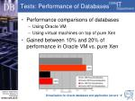 tests performance of databases1