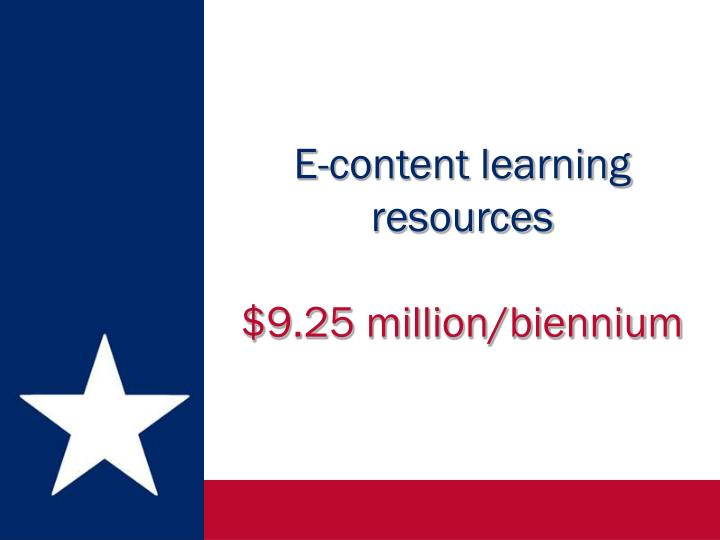 E-content learning resources