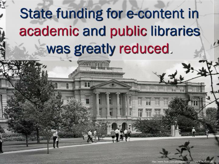 State funding for e-content in