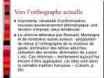 vers l orthographe actuelle
