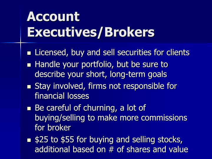 Account Executives/Brokers