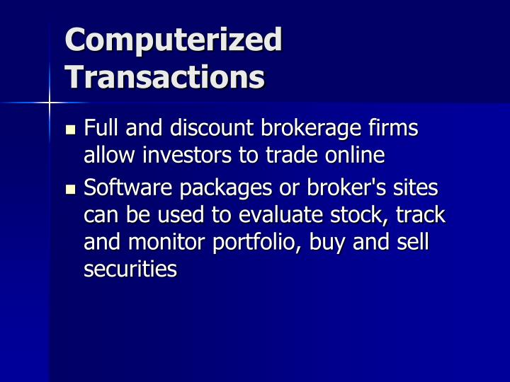 Computerized Transactions