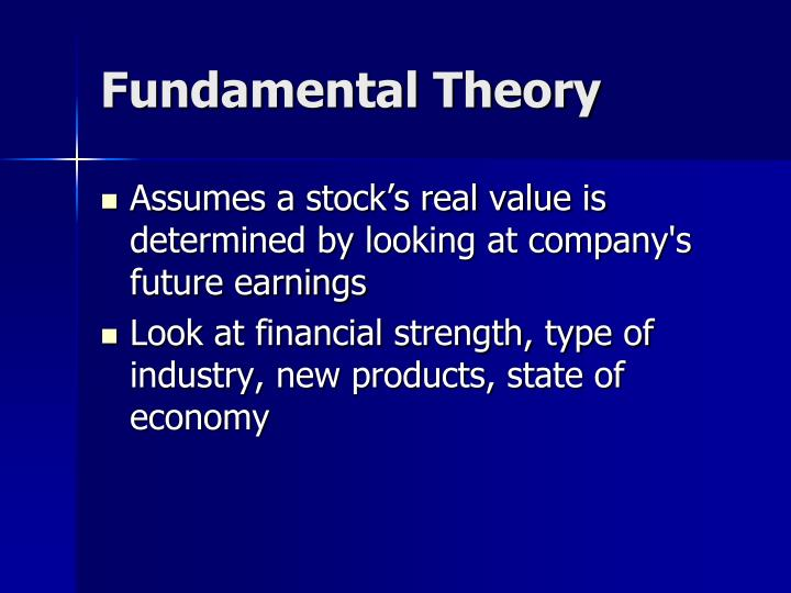 Fundamental Theory