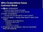 why corporations issue common stock