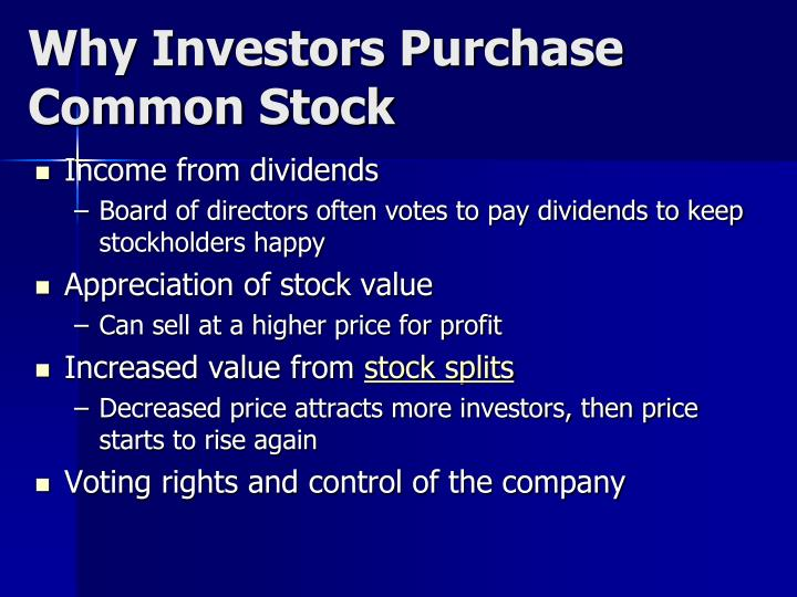 Why Investors Purchase