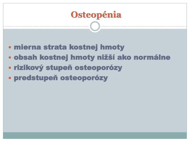Osteopénia