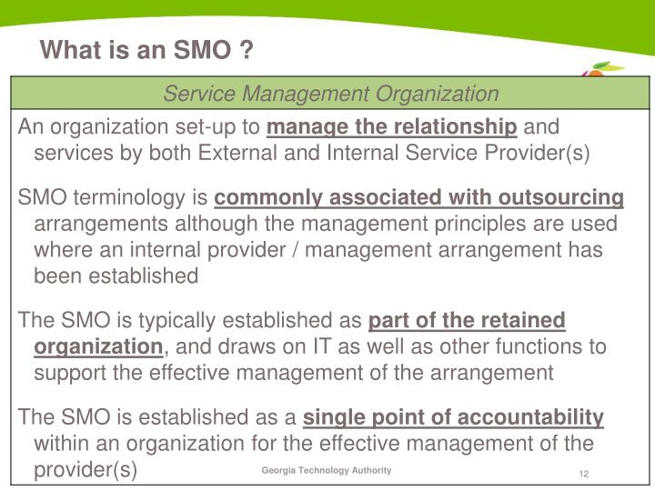 What is an SMO ?