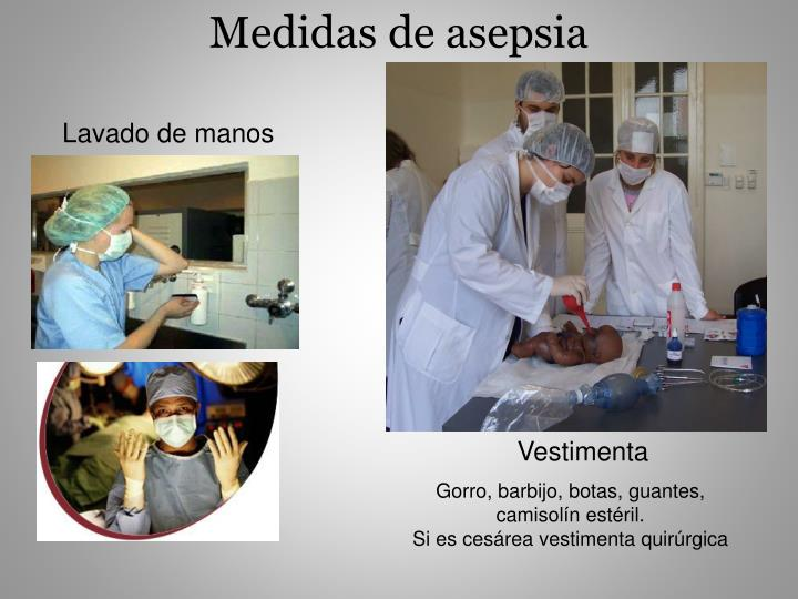 Medidas de asepsia