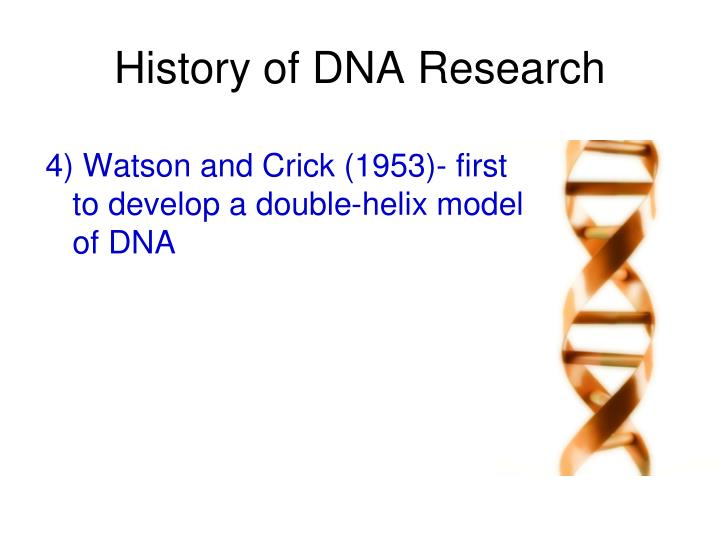 History of DNA Research