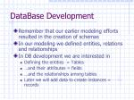 database development1