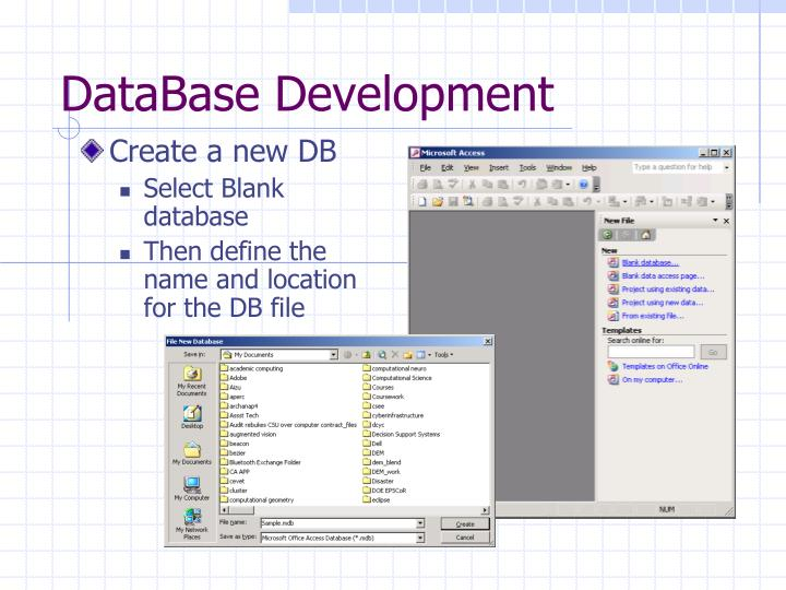 DataBase Development